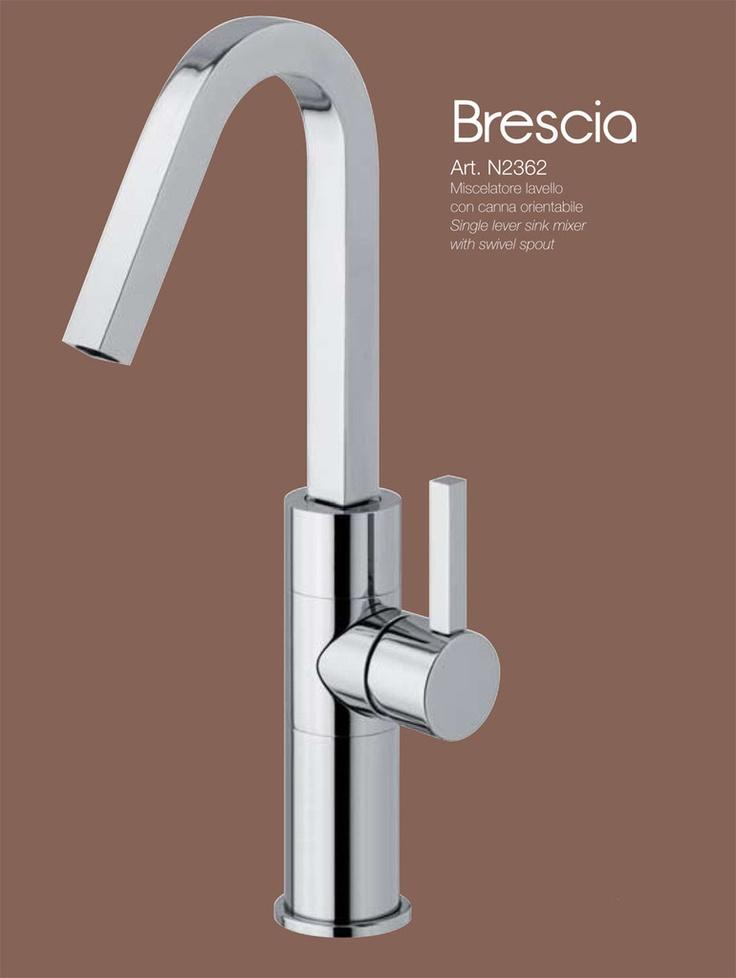 BRESCIA - CROMO miscelatore lavello con canna orientabile