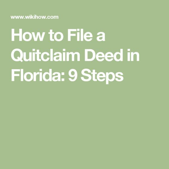 The  Best Quitclaim Deed Ideas On   Last Will And
