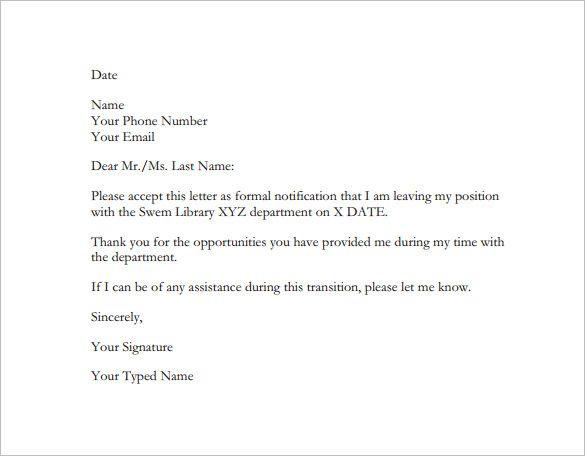 25+ melhores ideias de Formato de renúncia carta no Pinterest - resignation letters format
