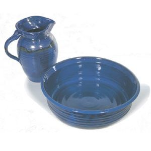 Ceramic Pedicure Bowl and Pitcher