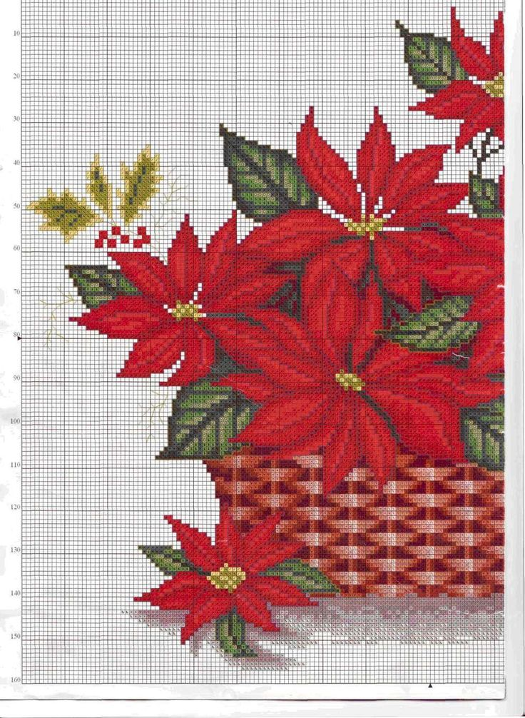 CS - Poinsettias in Basket Pattern Page 1 of 2