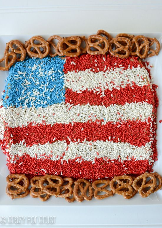 Peanut Butter Flag Dip - an easy peanut butter cheese ball dip made to look like an American Flag! Perfect for Memorial Day or the 4th!