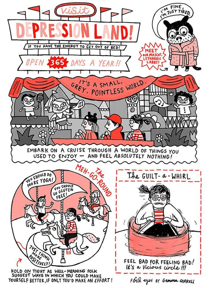 Best Inside Look Anxiety Disorders Images On Pinterest Board - Artist suffering from anxiety depression turns her life into funny illustrations