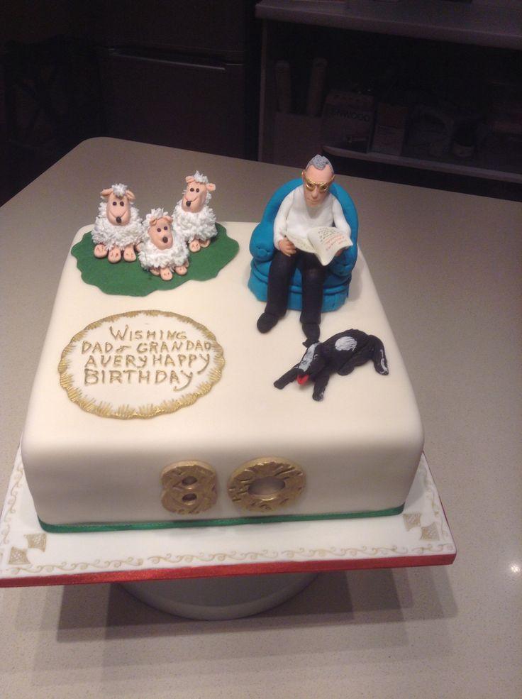 Vanilla sponge 80th birthday cake with vanilla Swiss buttercream and raspberry filling