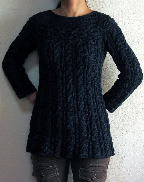 keis Cable Luxe Tunic-free pattern hand knitted Pinterest Beautifu...