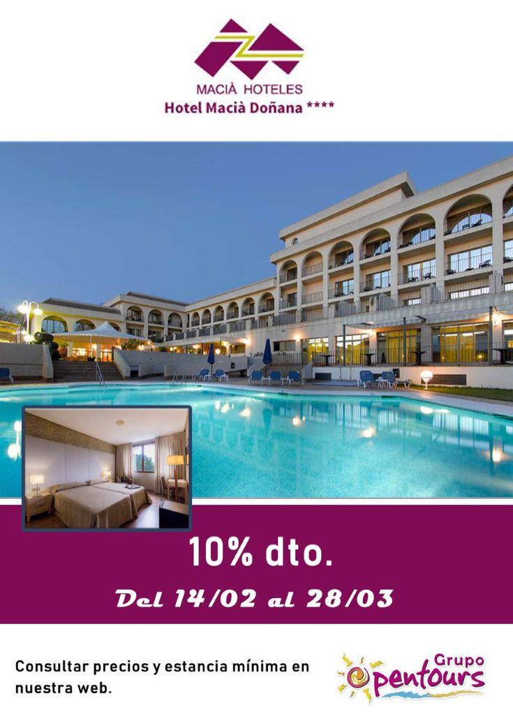 Hotel Macià Doñana **** (Sanlúcar de Barrameda, Cádiz, Andalucía, España) ---- Especial 10% de descuento ---- Del 14 de febrero al 28 de Marzo ---- Resto condiciones de esta oferta en www.opentours.es ---- Información y Reservas en tu - Agencia de Viajes Minorista - ---- #maciadoñana #maciadonana #hotelmaciadoñana #SanlucardeBarrameda #Sanlucar #cadiz #andalucia #enamorados #parejas #escapadas #hoteles #vacaciones #estancias #ofertas #agentesdeviajes #reservas #touroperador #mayorista #spain…