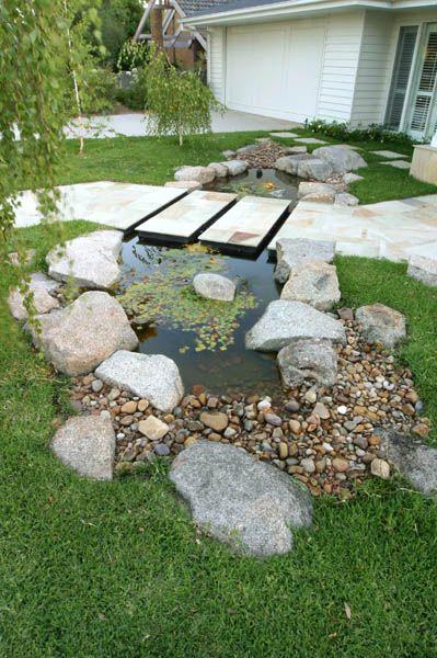 Rustic style pond.  www.outdoorcreations.com.au