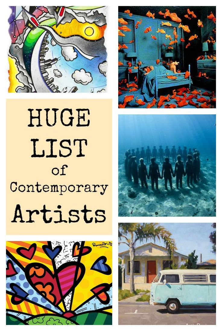 Huge List of Contemporary Artists - great resource with lists of art ed blogs for elementary and secondary