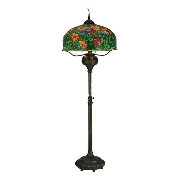 Tiffany Tropical Floor Lamp ($6,499) ❤ Liked On Polyvore Featuring Home,  Lighting,