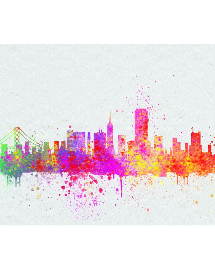 - Description - Specs - Processing + Shipping - Display your love for travel and culture with fun unique watercolor cityscapes, skylines and worldwide travel destinations. Add a fabulous piece of artw