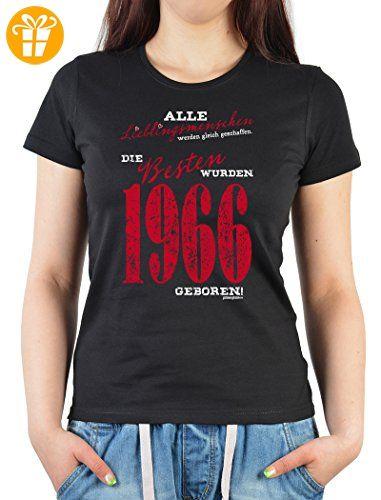 Alle Lieblingsmenschen wurden gleich geschaffen die Besten wurden 1966 geboren Damen Jahrgangs/Geburtstags-Shirt (*Partner-Link)
