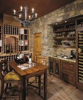Want it. But add a barrel vault ceiling.: Wine Rooms, House Ideas, Decorating Ideas, Stone Walls, Kitchen, Stones, Eldorado Stone, Wine Cellars, Winecellar