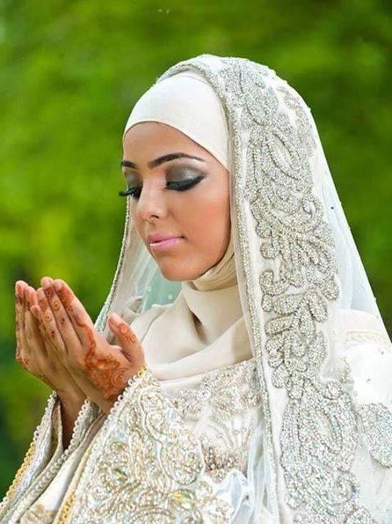Check Out Latest Designs Of Muslim Bridal Wedding With Sleeves And Hijab These Photos Ic For Brides Are Fabulous