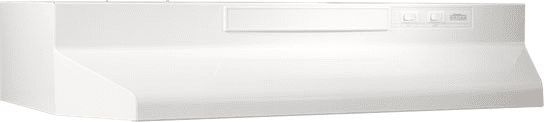 Broan F402411 24 Inch Under-Cabinet Range Hood with 190 CFM Internal Blower, 2-Speed Rocker Control, Dishwasher-Safe Aluminum Grease Filter and Convertible To Recirculating: Monochromatic White