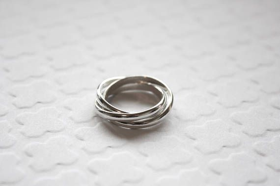 Sterling Silver Rolling Ring Three Ring Set Sterling Silver
