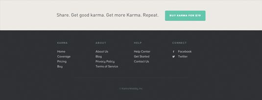 16 great examples of website footer design | Web design | Creative Bloq