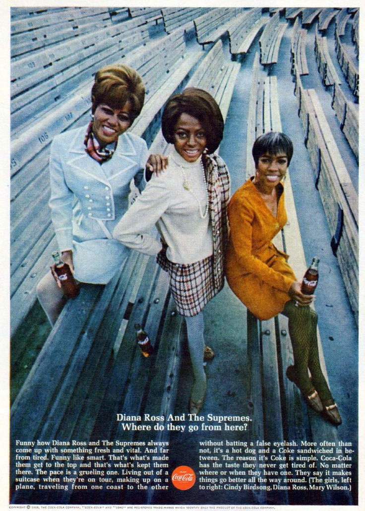 Diana Ross Amp The Supremes 1968 Coca Cola Print Ad The
