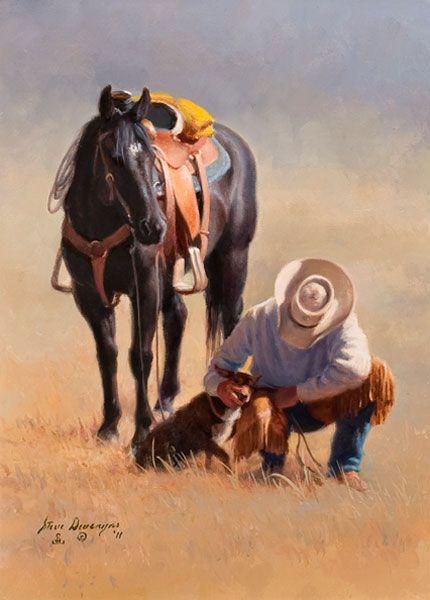 "Praise is the Best Teacher, 9"" x 12"" Oil Painting on Linen © Steve Devenyns, Western Artist"