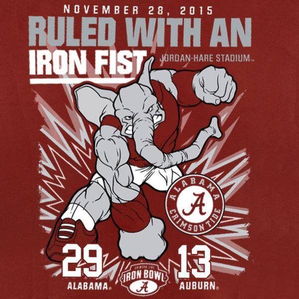 2015 score Alabama 29- Auburn 13