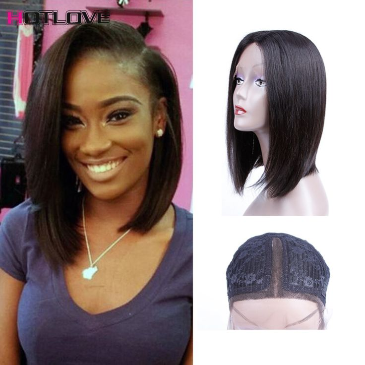 Perucian Virgin Hiar 8a Glueless Lace Front Peruvian Hair Wigs Side Part Human Hair Bob Wig Straight Short Human Hair Wigs