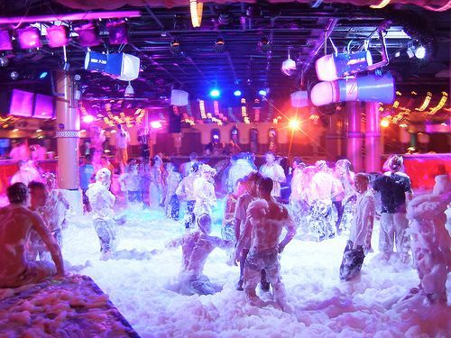 Magaluf- BCM  Foam party! Wild times, been to Maga more times than I can count!