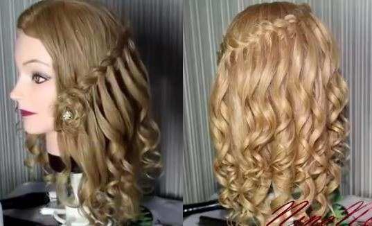 Прически на волосы средней длины на день рождения