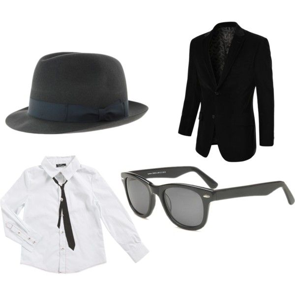 """""""Blues Brothers Costume"""" by eyebuydirect on Polyvore"""