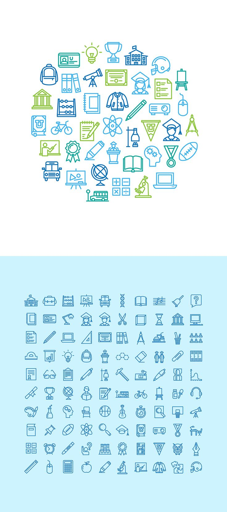 Education icon set - Free on Behance