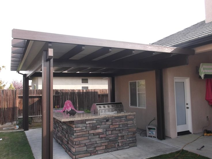 A Solid Patio Cover Can Be A Great Accent To Your Next Backyard Family BBQ!