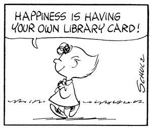 Happiness is having your own library card!