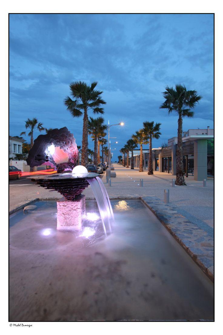 Avenue de la Méditerranée à Marseillan plage