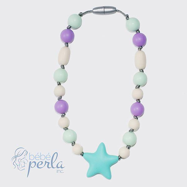 Little girl silicone necklace - Starbright Grace www.bebeperla.com
