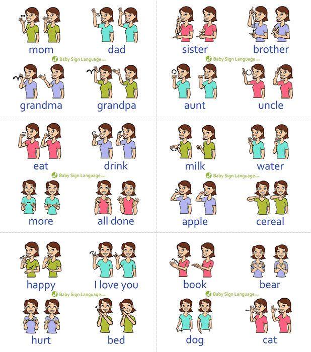 Baby sign language.