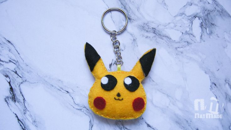 Pokemon keychain, Picachu keychain, felt pokemon by NatmadeCrafts on Etsy