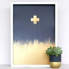 Metallic Golden Cross Art Print by Cloud 9 Creative See here: http://www.endemicworld.com/metallic-prints.html
