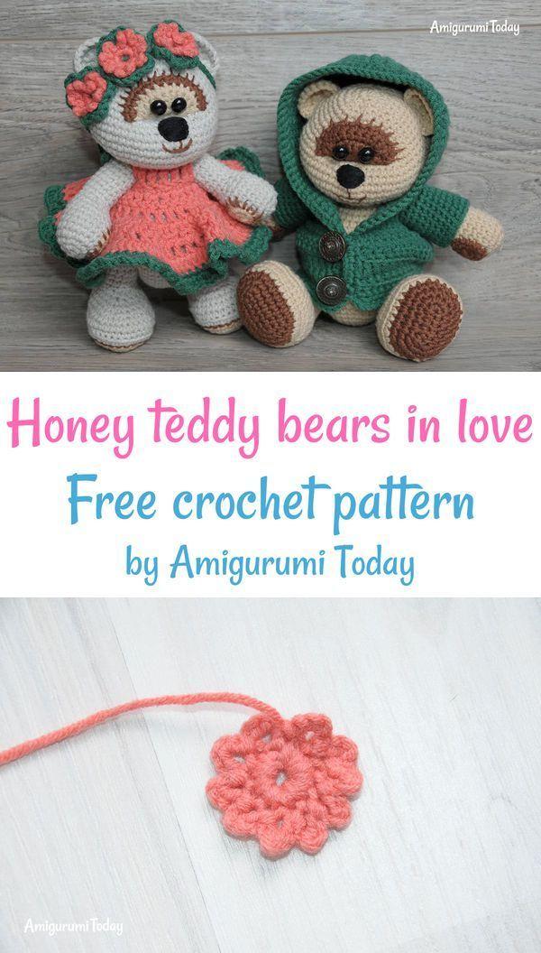 Crochet Teddy Bears Free Crochet Pattern By Amigurumi Today