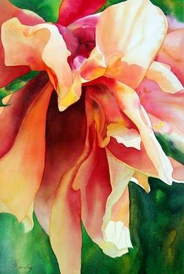 Such depth with light and contrast: Art Watercolor, Contemporary Artists, Art Paintings, Watercolor Paintings, Colleen Sanchez, Originals Watercolor, Watercolor Flowers, Artists Floral, Water Colors