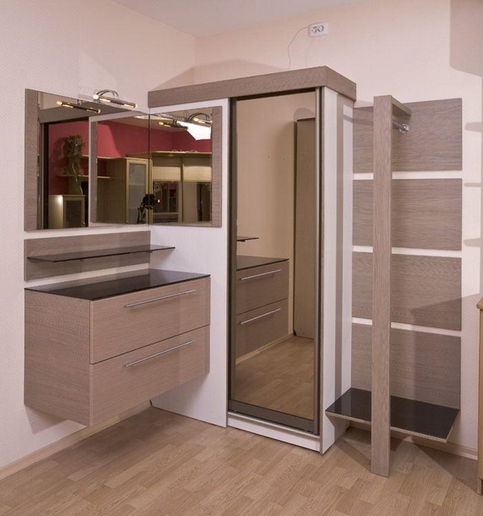 Компактная угловая мебель в прихожую - http://mebelnews.com/mebel-dlya-prihozhey/kompaktnaya-uglovaya-mebel-v-prixozhuyu.html