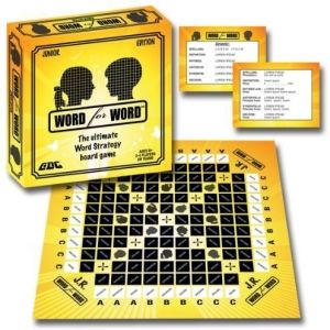 Enter the world of word strategy with Word for Word. Embark on a race of wits from one side of the board to the other with your pawn by correctly answering the designated, category question. Armed with an arsenal of 1,500 razor-sharp questions, Word for Word challenges the player to spell words, give definitions, identify antonyms and synonyms and solve word problems hidden in rhymes and scrambled letters.