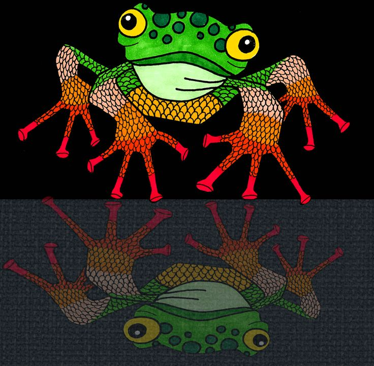 ~ Frog Illustration ~  ©Humlan & Bapan Artwork www.humlanbapan.se