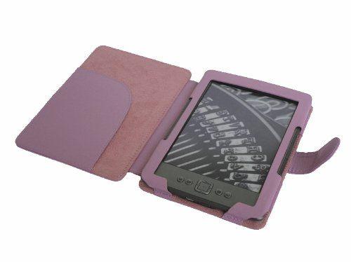 "JKase(TM) Premium Quality Custom Fit Folio Leather Case Cover for Latest Generation 2011 Kindle 4 Wi-Fi 6"" E Ink Display (4th Generation 6"" Kindle Wi-Fi w/o Keyboard) Pink"