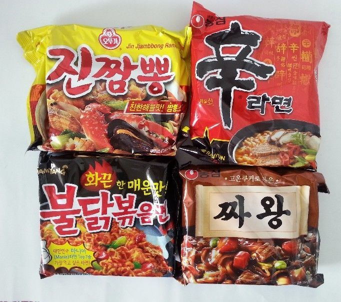 Korean Ramen Big4 Most Popular Instant Ramyun Noodles (1Pack_ 4Pcs) #NongshimOttogiSamyang