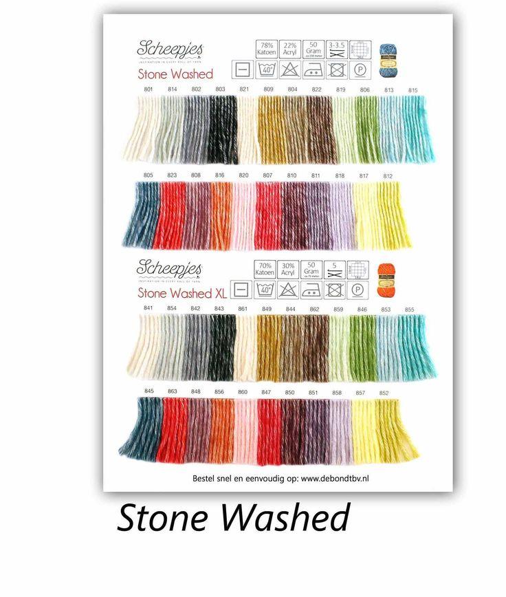 Scheepjes Stone Washed Shade Card