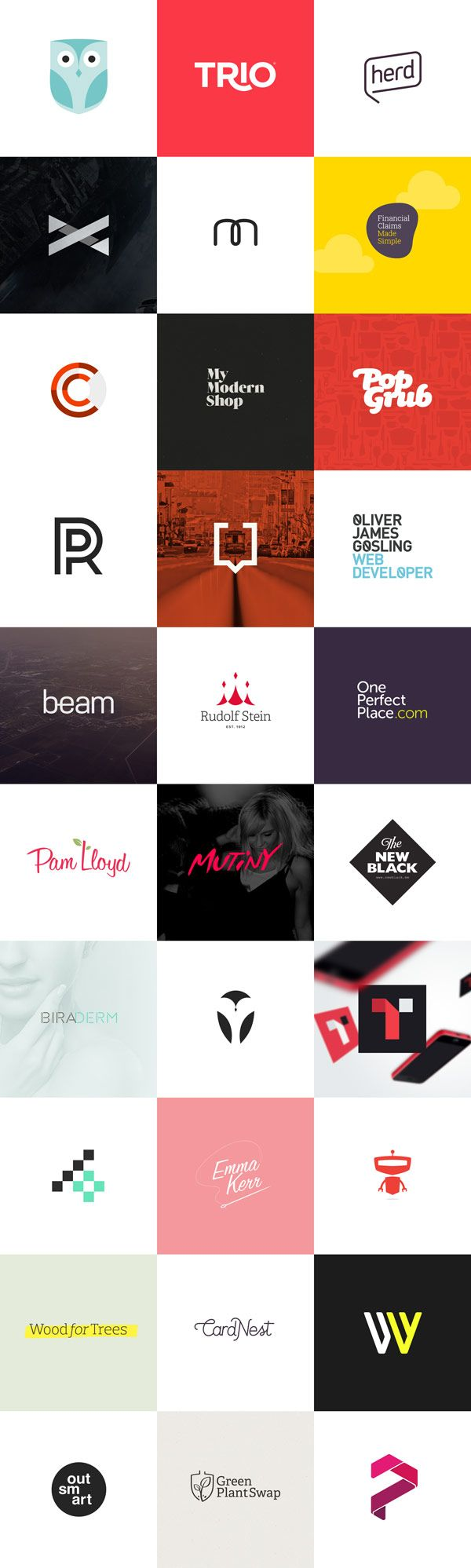 30 Logos by Hype & Slippers #logos #logo #design #branding #identity #inspiration #brand #idea #modern #creative #simple #flat