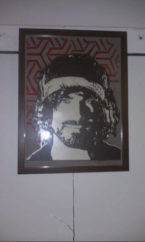 Some dude.  Stencil on Paper