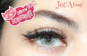 Softlens Kitty Kawaii Jet Aime Grey