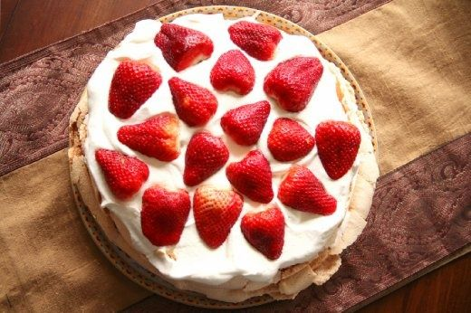 A Famous Desert In Australia Is Pavlova. Also Called One Of The Sexiest Deserts In The World! Made Up Of Chantilly Cream, Topped With Mixed Berries That Are Macerated In Balsamic Vinegar And Freshly Squeezed Lemon Juice! Sounds Yummy! I Must Have Some <3