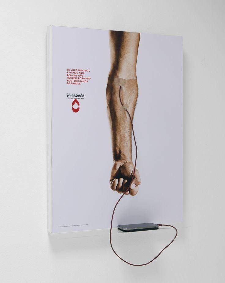 campanha incrível associando doação de sangue com carga de celular.