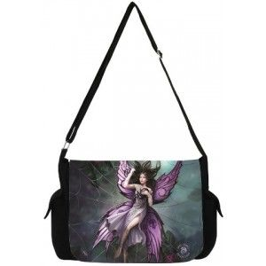 Silk Lure Fairy Messenger Bag by Anne Stokes - New at GothicPlus.com - your source for gothic clothing jewelry shoes boots and home decor.  #gothic #fashion #steampunk