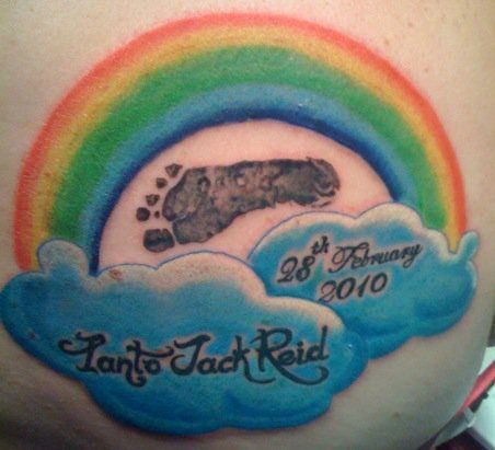 Day Five (a day late, sorry!): Memorial. This is my tattoo in memory of Ianto. It takes up a sizeable chunk of my shoulder blade